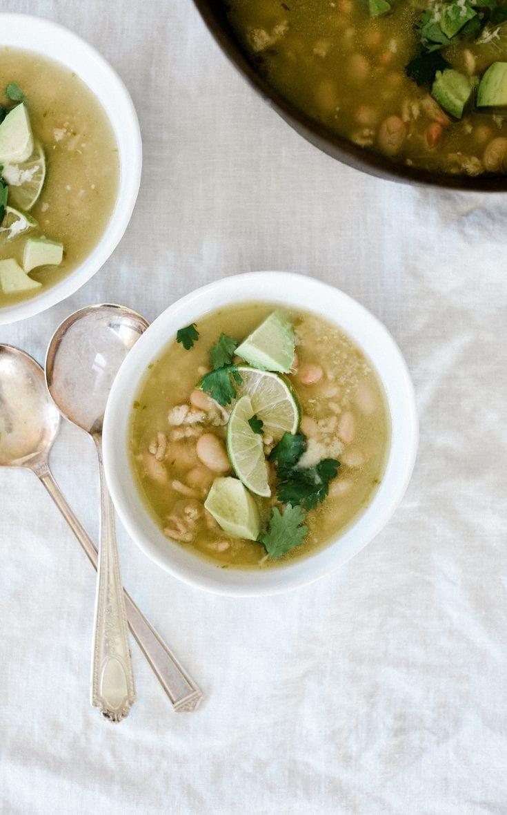 Ground Turkey Soup with Salsa Verde