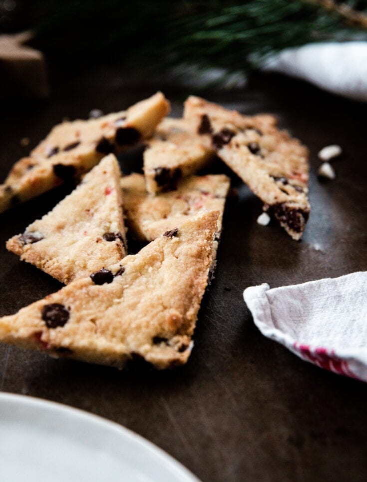 Best Christmas Desserts: Chocolate Peppermint Shortbread