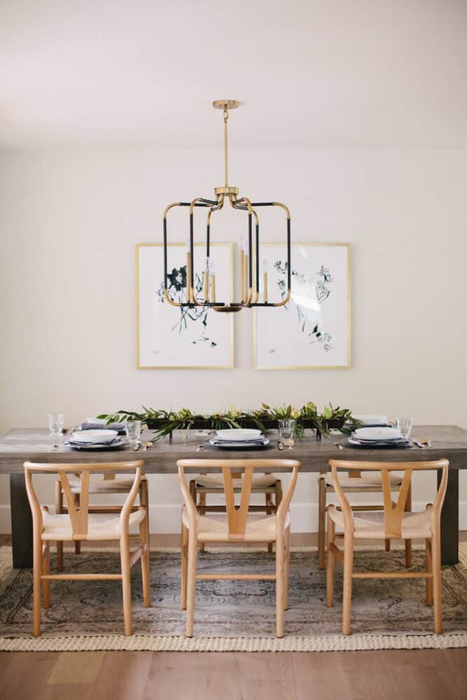 Boxwood Avenue - Bentwood chairs and centrepiece
