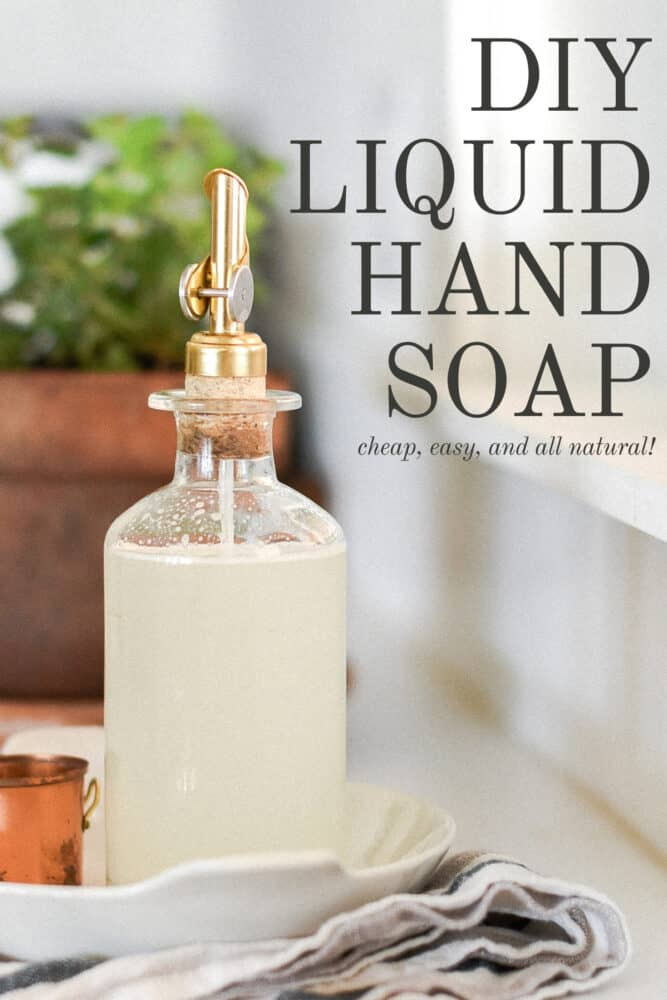 Homemade Hand Soap Recipe with Castile Soap
