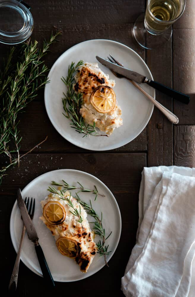 Baked Greek yogurt chicken dinner recipe
