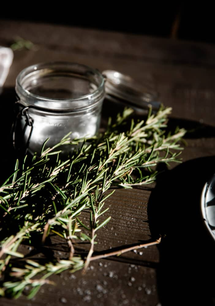 Rosemary and salt cellar