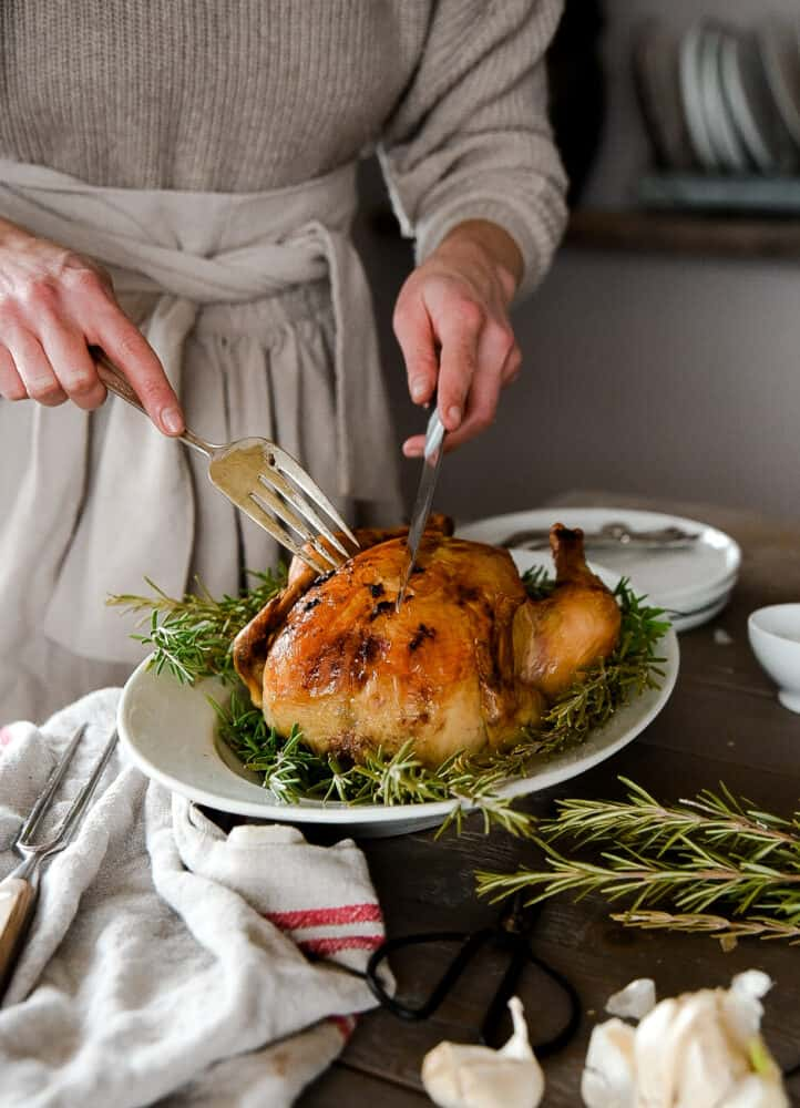 How to roast a chicken! Steps to roasting the perfect chicken.