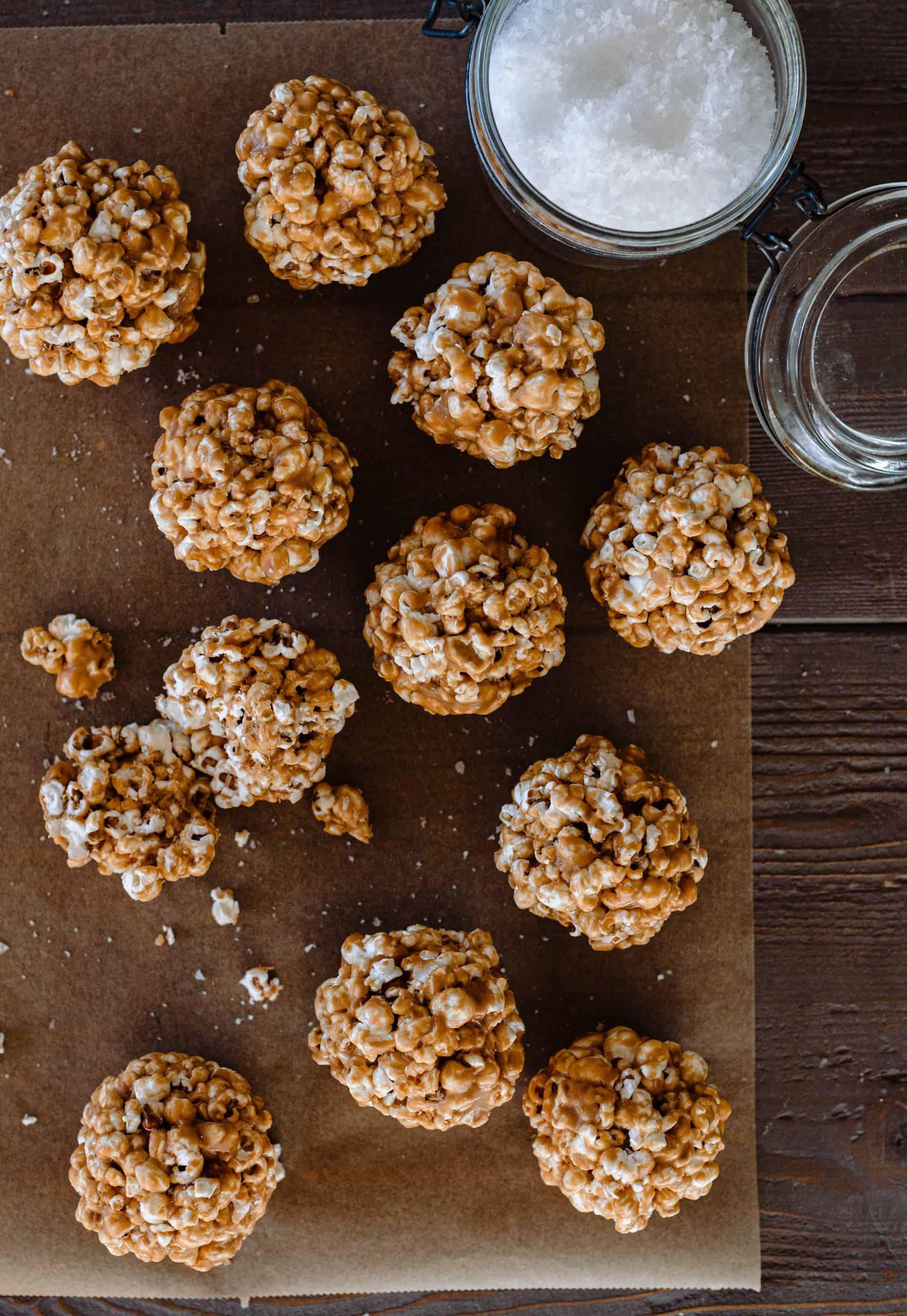 Caramel Popcorn Balls Boxwood Ave