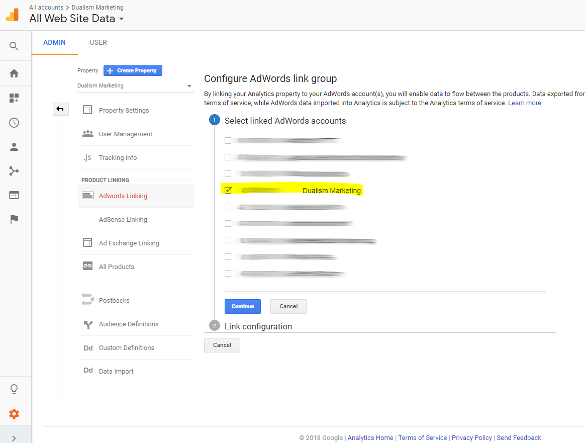 Link Google Adwords with Google Analytics 4