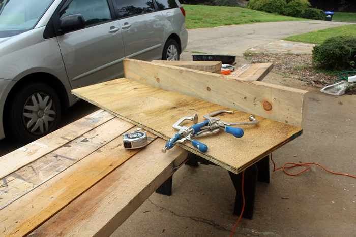 board attached to plywood