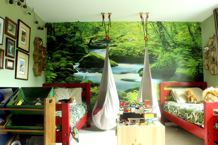 milo and august s forest room tour sources and elaborate backstory rh boxycolonial com Forest Bedroom Color Forest Room Ideas