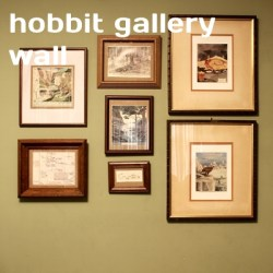 hobbit gallery wall