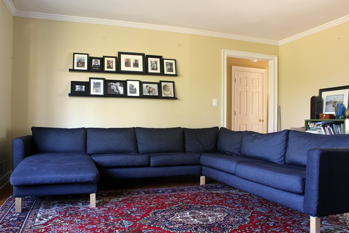 Incredible Our New Ikea Karlstad Sectional A Love Story Gmtry Best Dining Table And Chair Ideas Images Gmtryco
