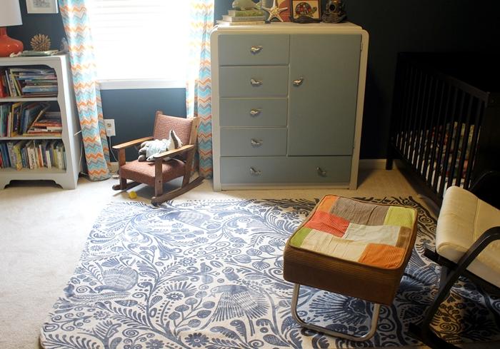 Urban Outfitters batik rug in nursery