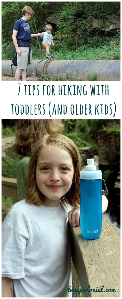 tips for hiking with toddlers (and older kids), plus our favorite Brita water bottles