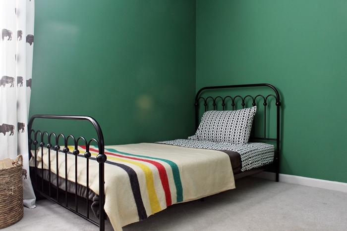 novagratz bed w/ hudson bay blanket and ikat flannel sheets from target