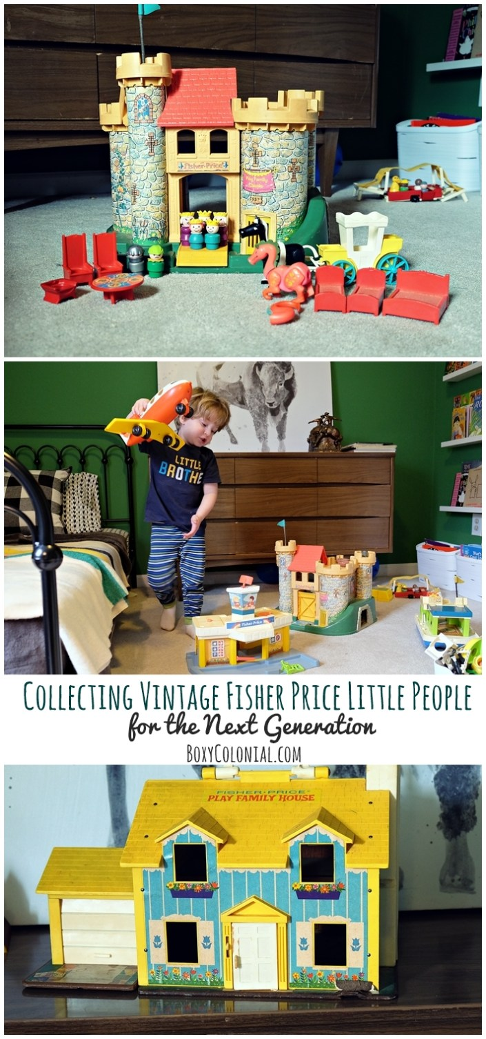 Putting together a collection of Vintage Fisher Price Little People for an appreciative toddler
