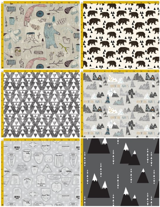 spoonflower fabric choices National Parks room