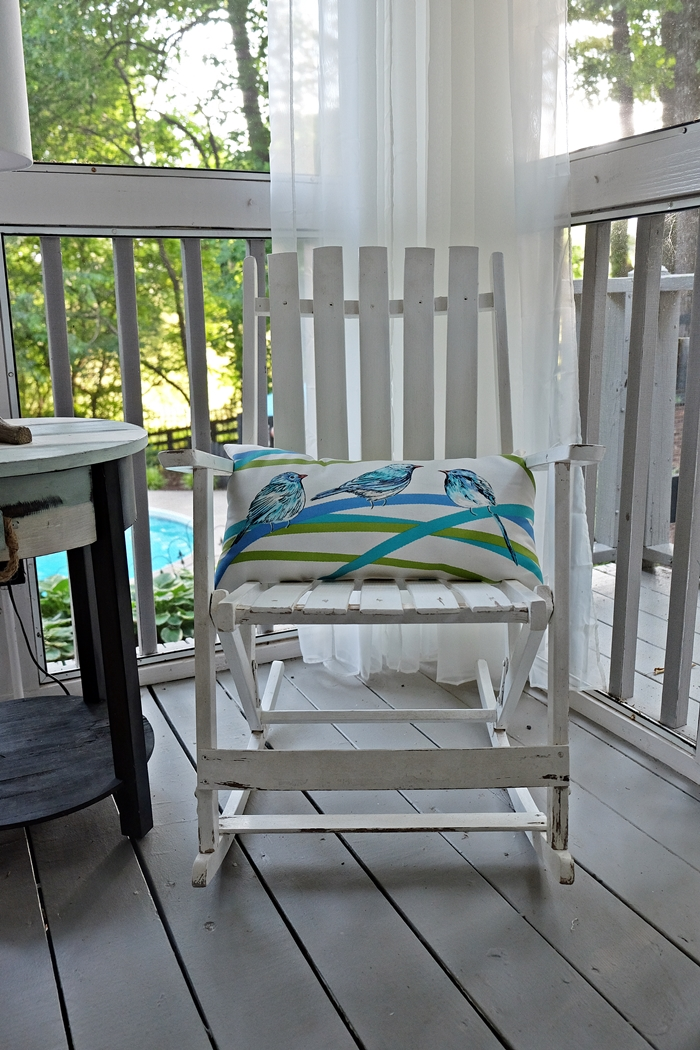 My Mom S A Frame House Tour Part 3 The Screen Porch