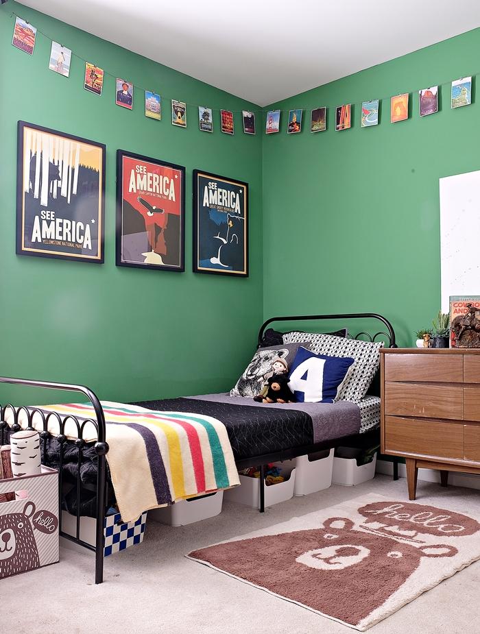Preschooler's National Parks inspired bedroom