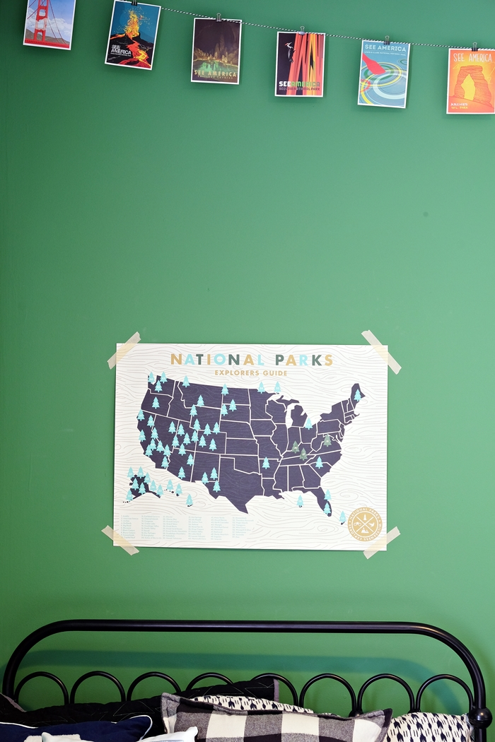 national parks room with uncommon goods national parks explorer map
