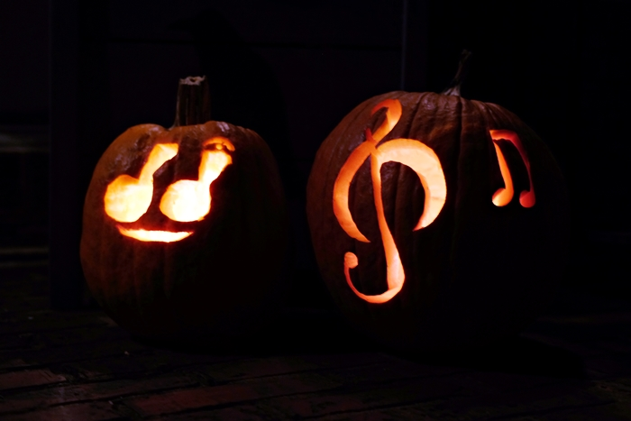 musical note pumpkins