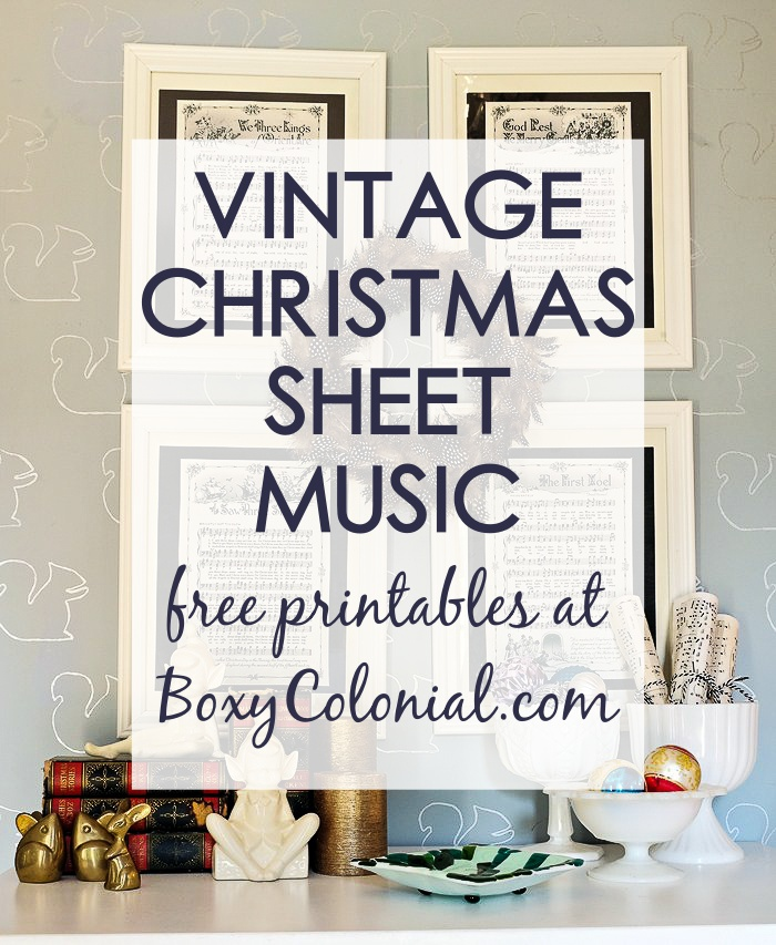 photograph regarding Vintage Sheet Music Printable titled Framed Common Xmas Sheet Songs -