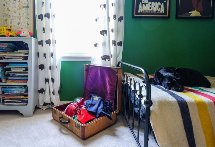 vintage suitcase for dress up clothes