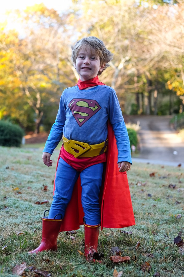 Diy Pieced Together Kids Superman Costume For Halloween