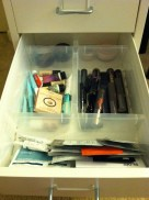 The Antonius organizer fits perfectly inside the Helmer drawers. This is my favorite drawer! The sample drawer!
