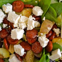 Chorizo and Tomato Summer Salad