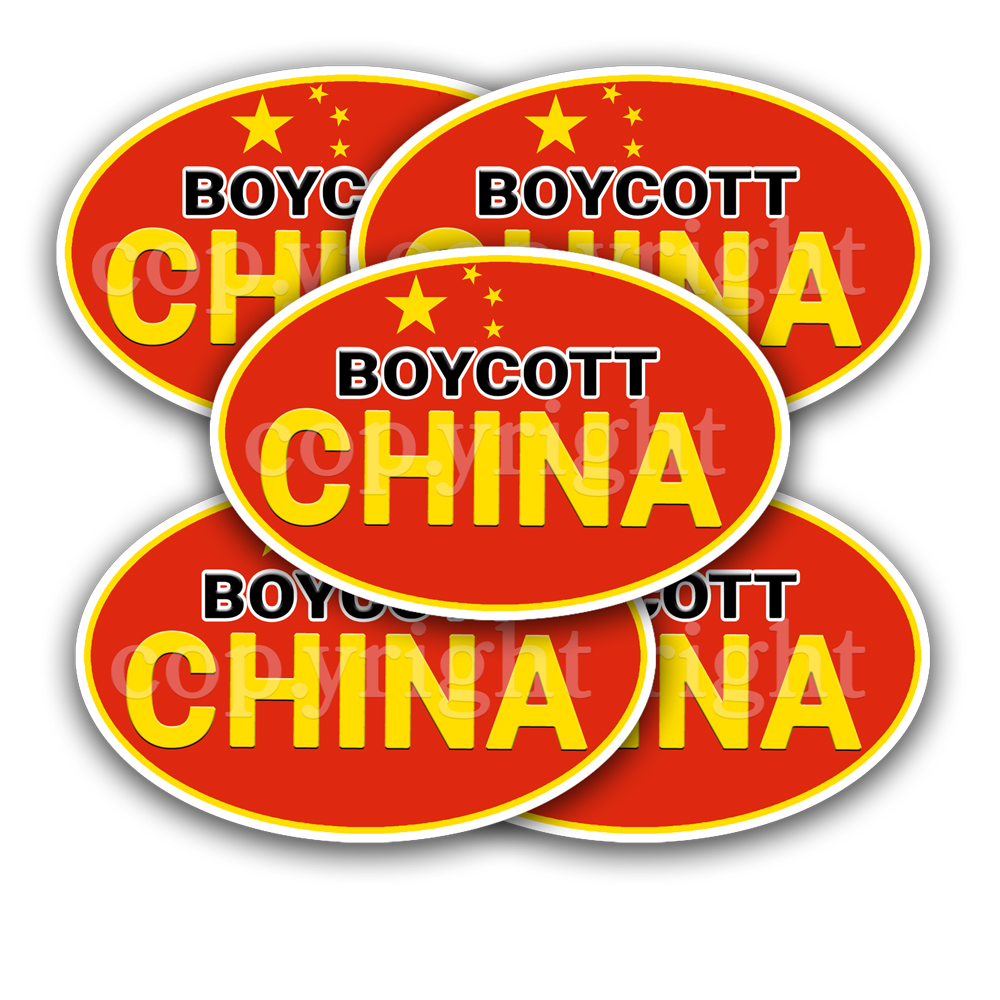 Boycott China Stickers 5 Decals