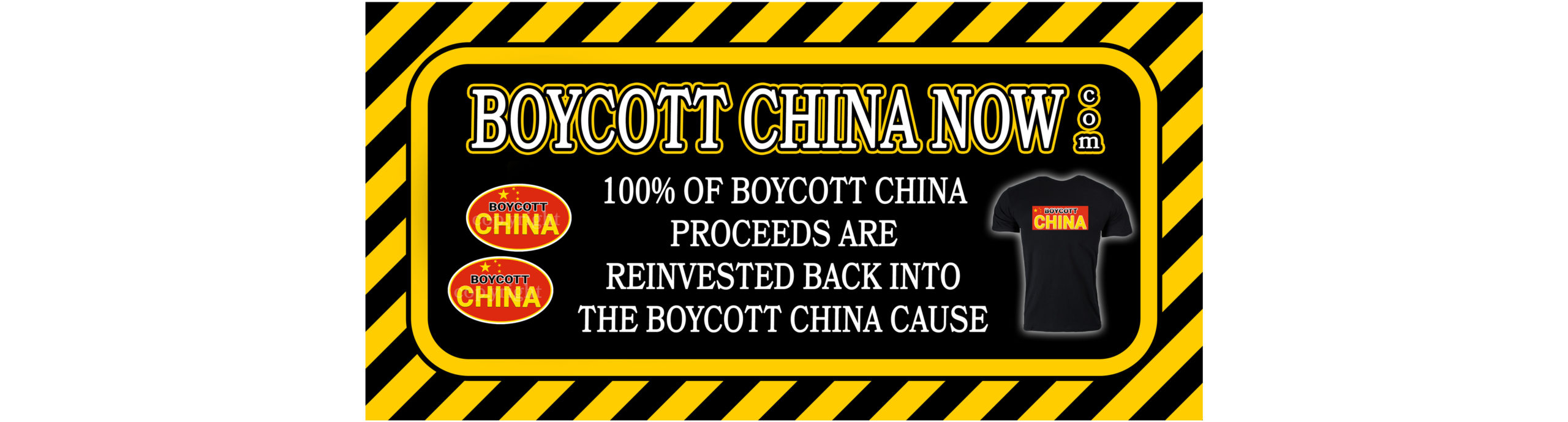 BOYCOTT CHINA Stickers and Shirts