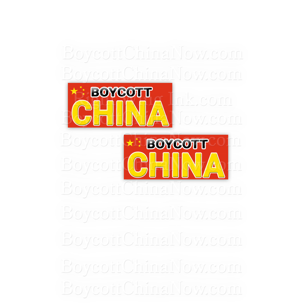 Boycott China Bumper Stickers