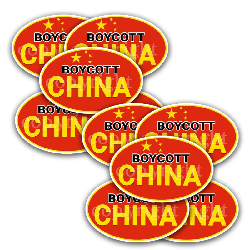 Boycott China Stickers 10-pack