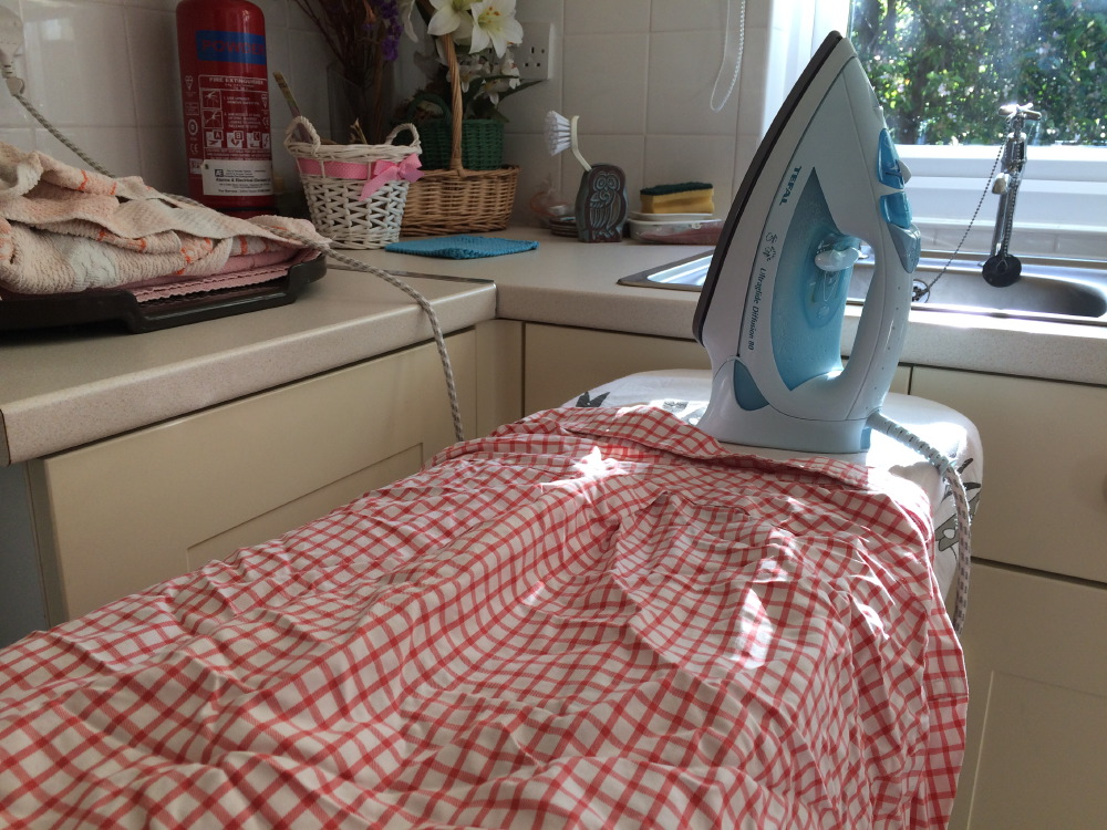 Ironing in England.
