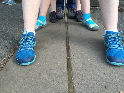 Standing on the prime meridian.
