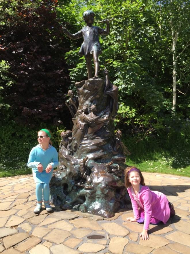 At Peter Pan's statue.