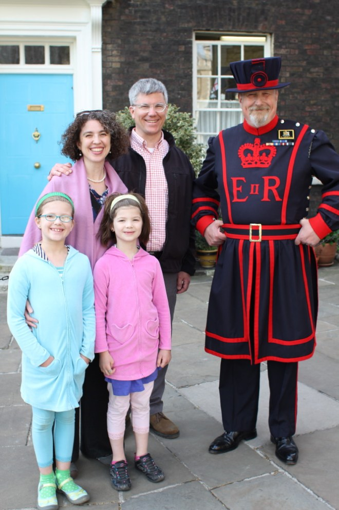 Our family with Rob the Yeoman Warder.