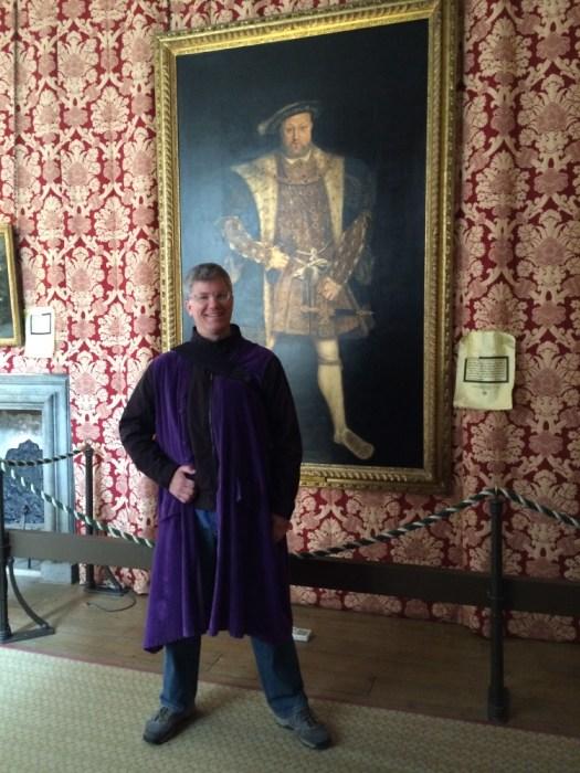 Jon posing as King Henry VIII.