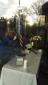 SA embassy lobby, from outside