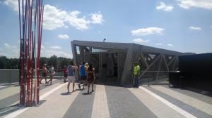 Footbridge to the Metro station