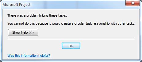 Troubleshooting Circular Task Relationships with BPC Logic Filter