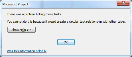 Troubleshooting Circular Task Relationships with BPC Logic Filter