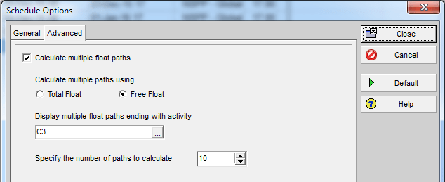 P6 Multiple Float Path Analysis – Why Use Free Float Option
