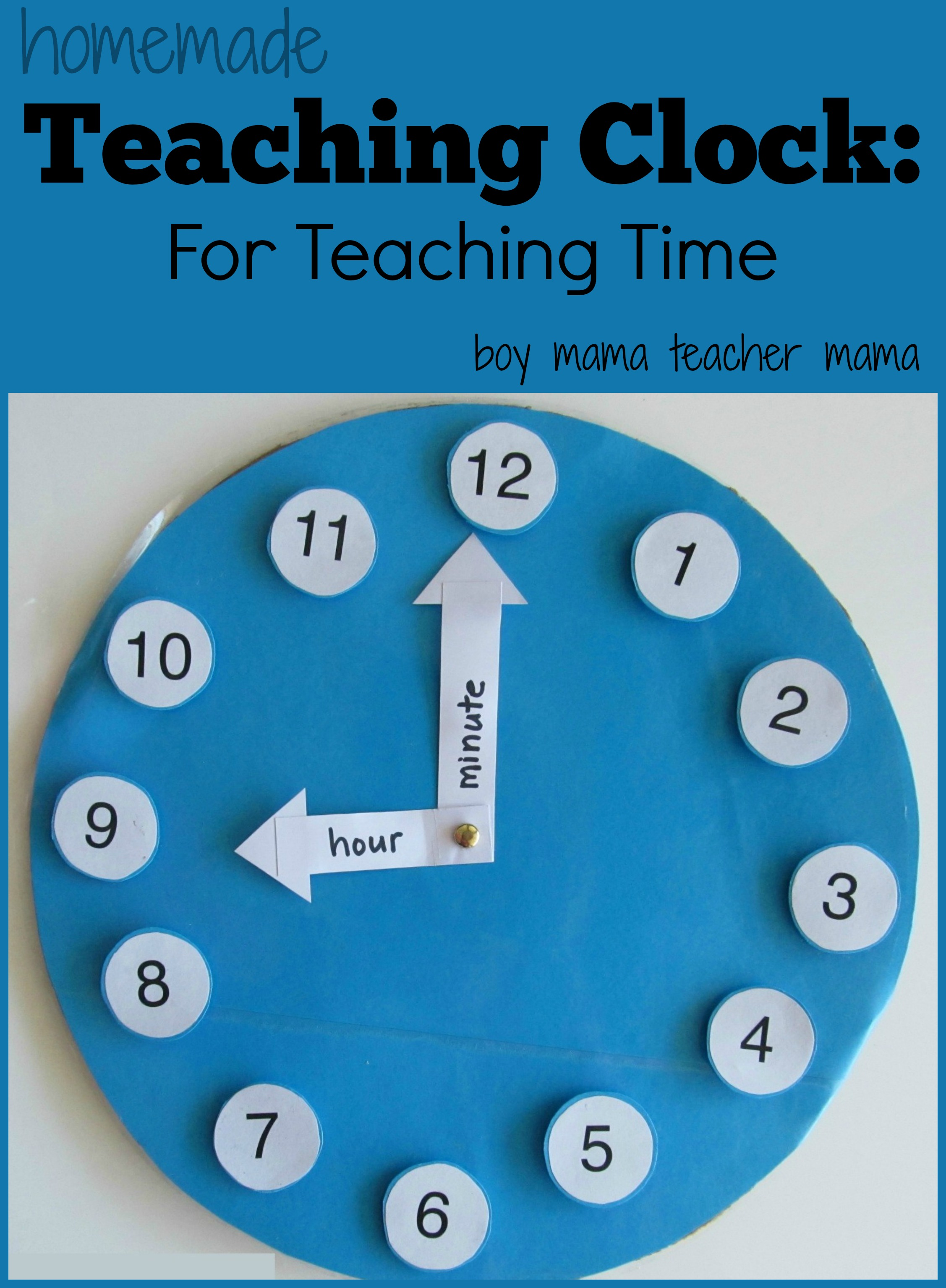 Teacher Mama A Homemade Teaching Clock