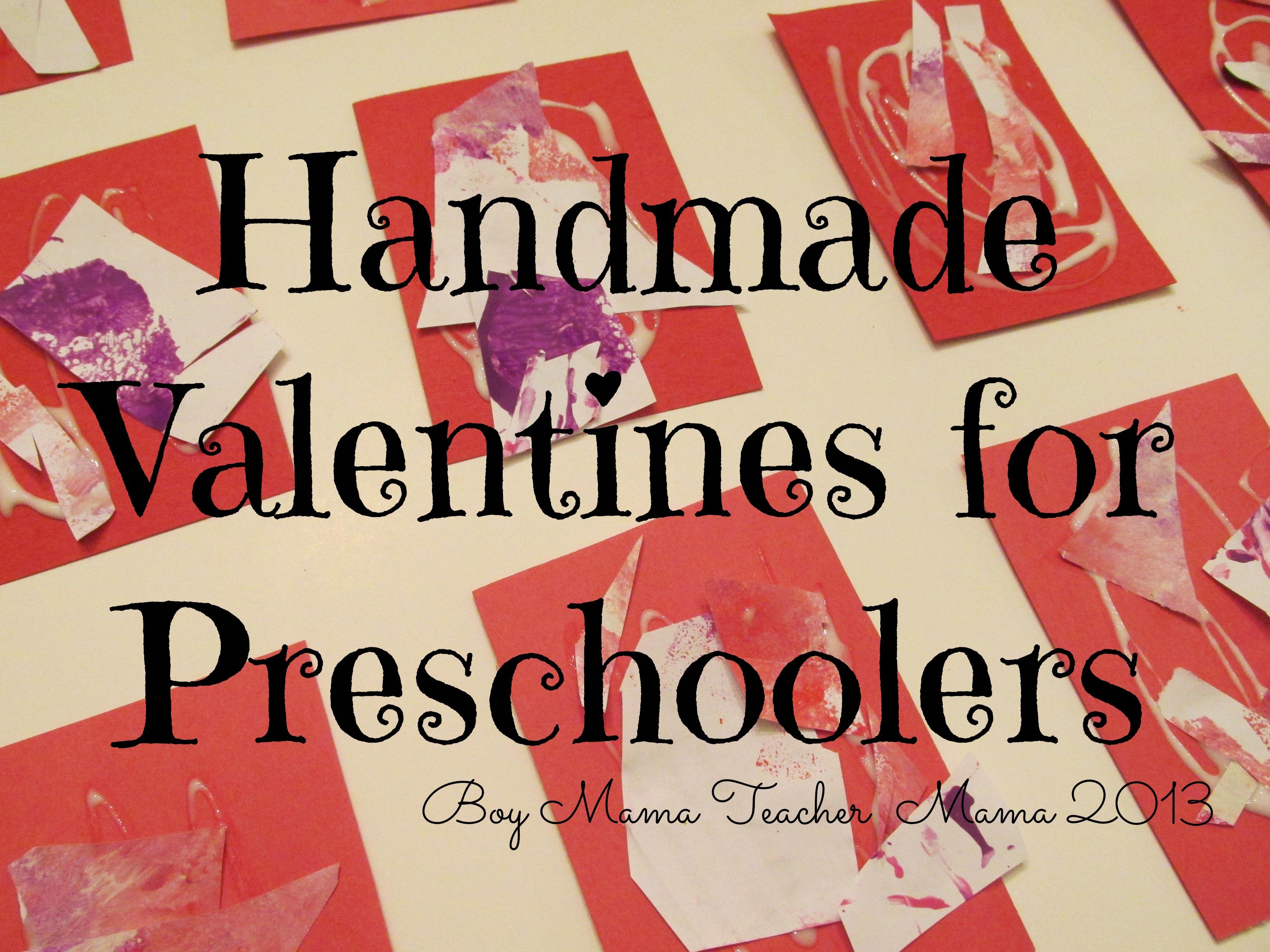 Boy Mama Handmade Valentines For Preschoolers