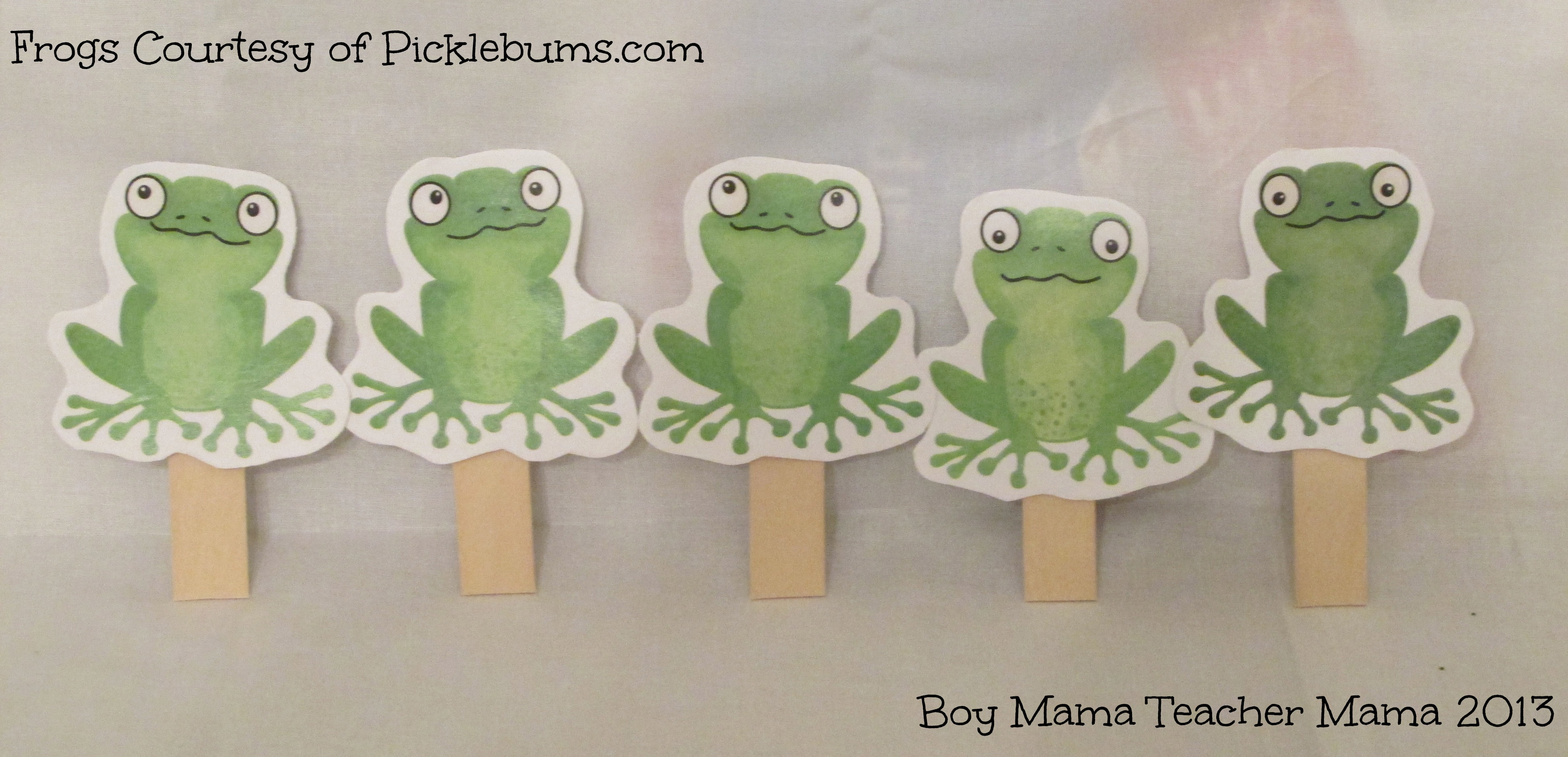 Book Mama 5 Green And Speckled Frogs An Interactive