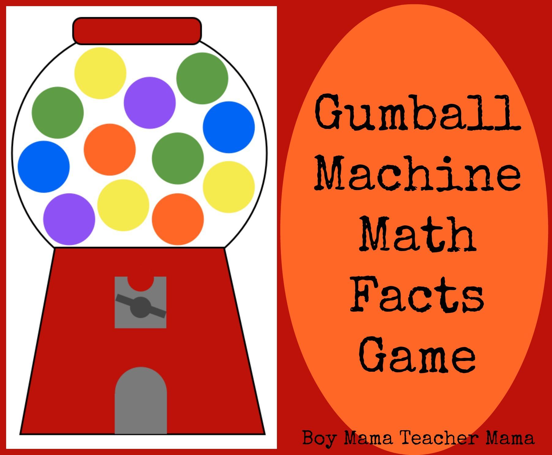 Teacher Mama Gumball Machine Math Facts Game
