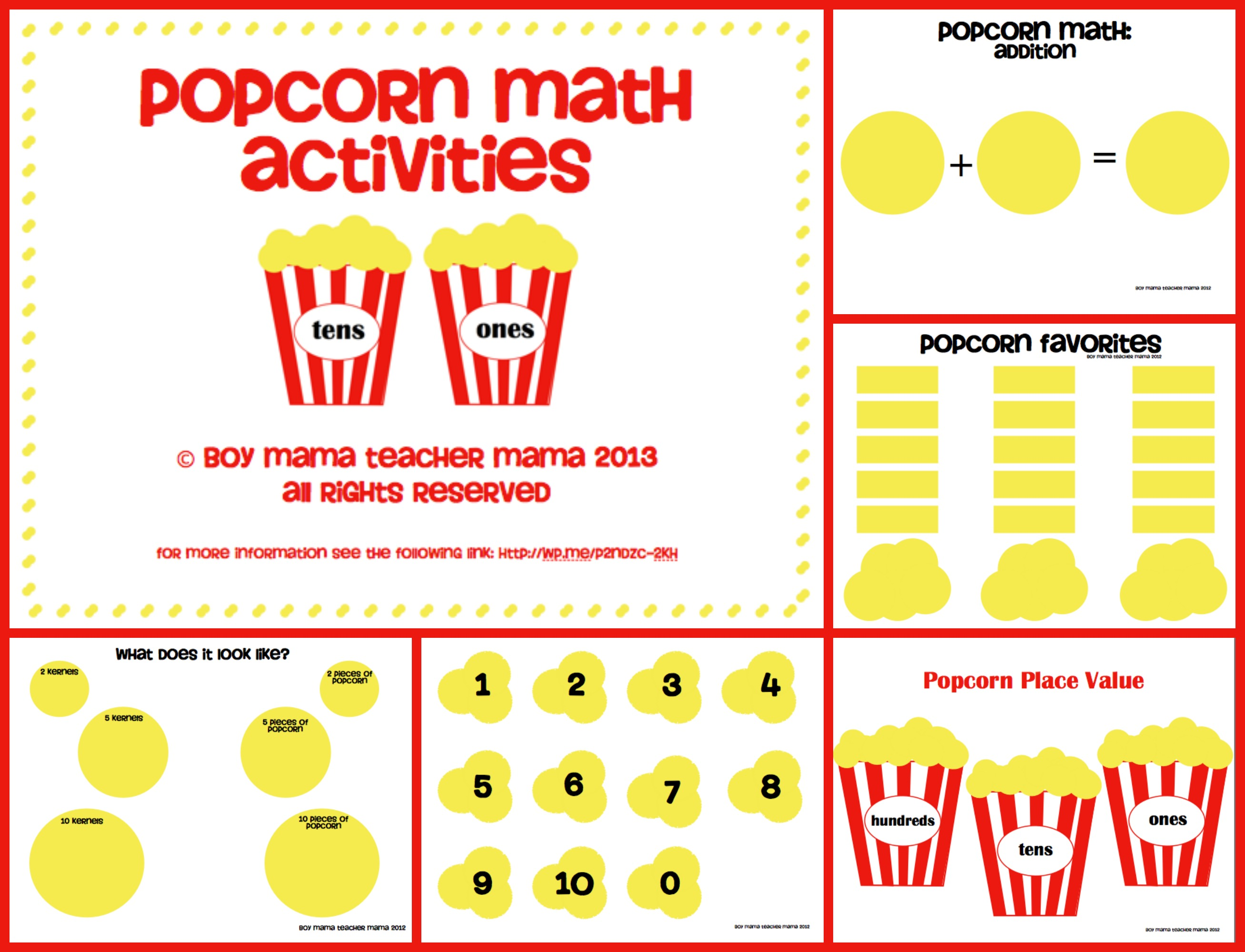 Corn Worksheets For Kids