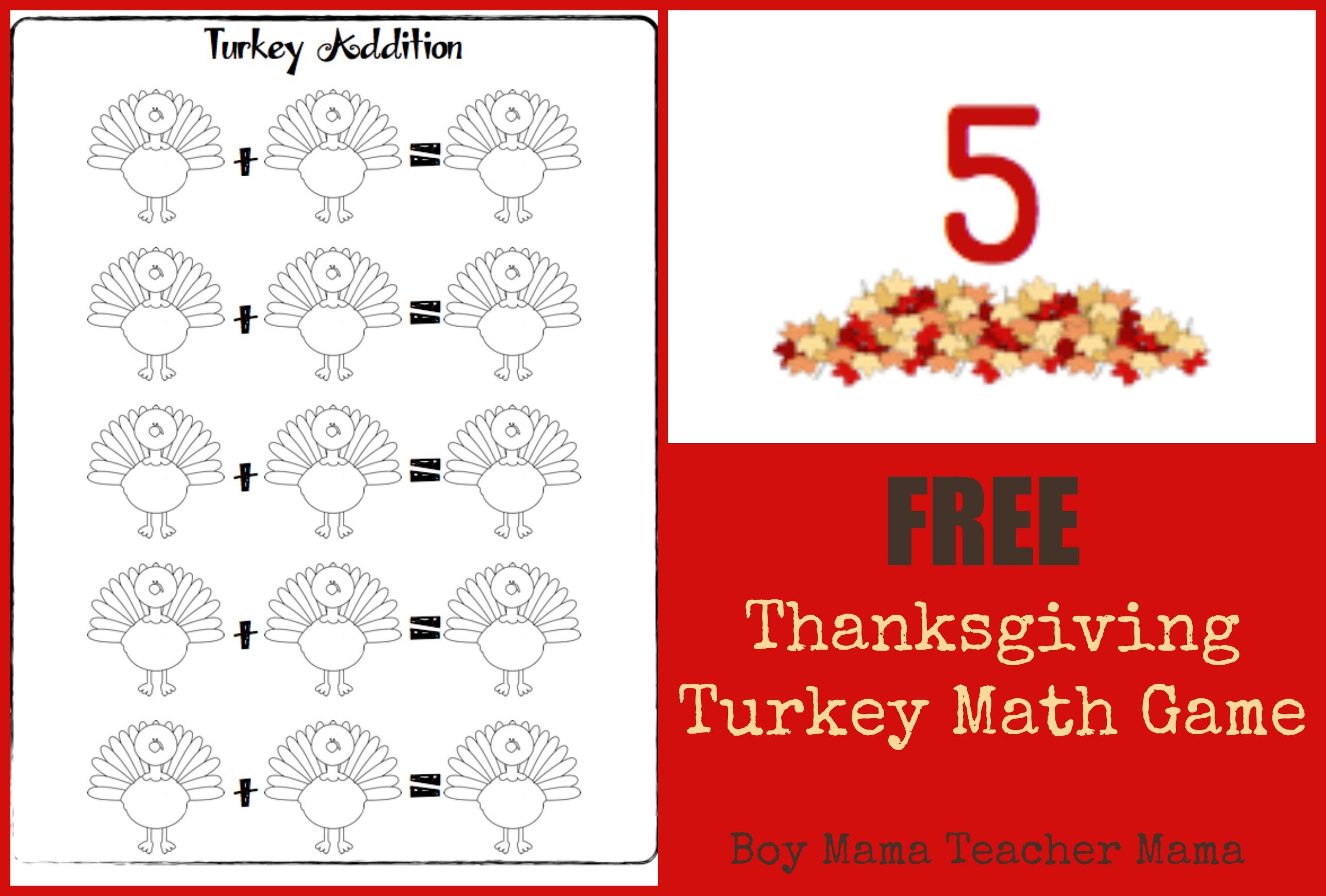 Boy Mama Teacher Mama Thanksgiving Activities Round Up