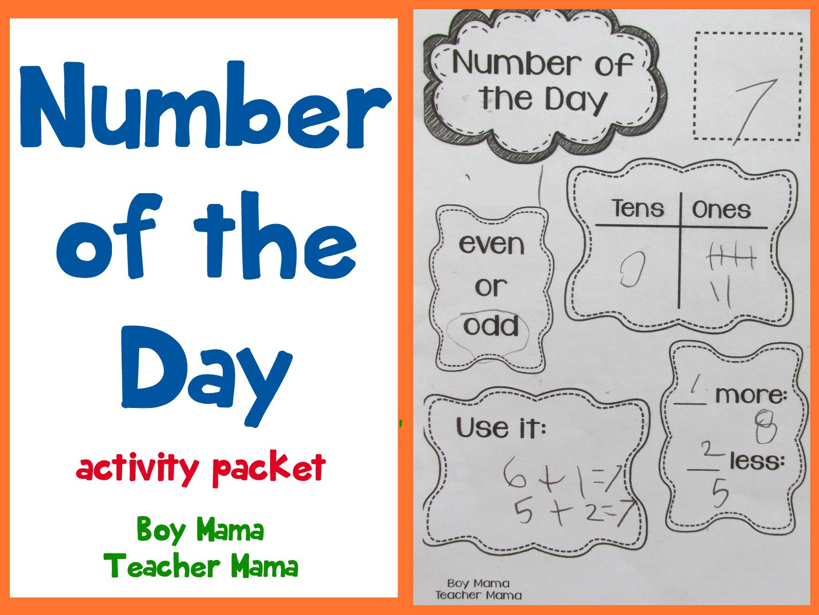Teacher Mama Number Of The Day Activity Pack After