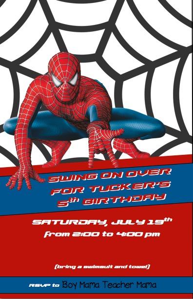 Spiderman invitation cogimbo spiderman birthday invitations bonvoyagegifts info pronofoot35fo Gallery