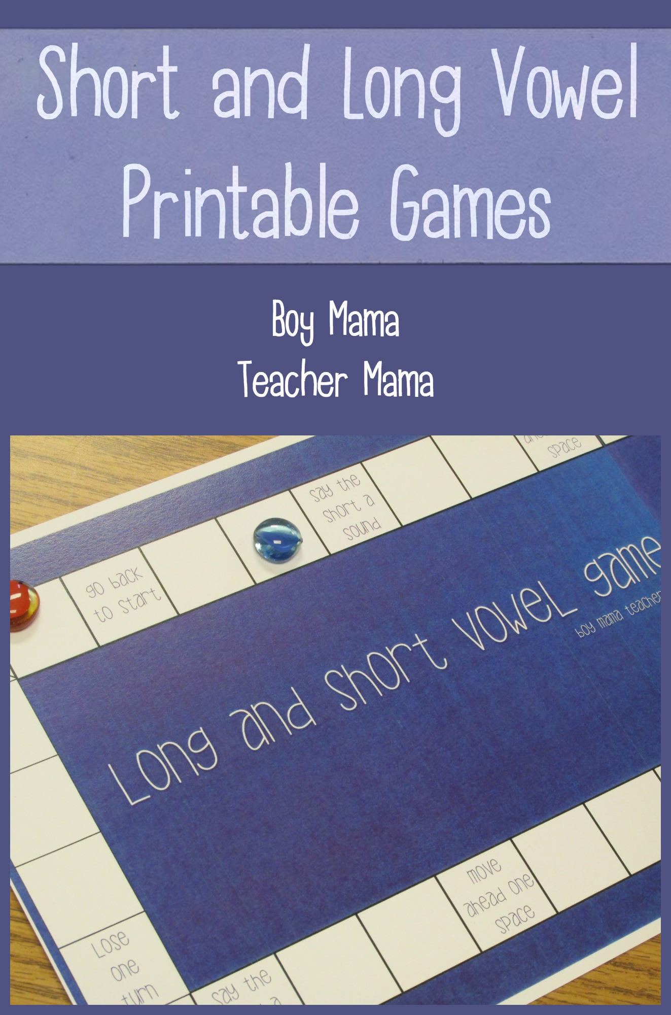 Teacher Mama Short And Long Vowel Printable Games After